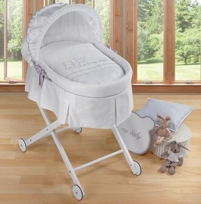 minicuna o moises para bebés con vestidura