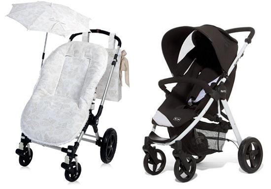 Funda para silla de paseo del bebé con sombrilla y bolso o talega para colgar