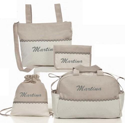 bolsos para carritos de bebe con nombre personalizado
