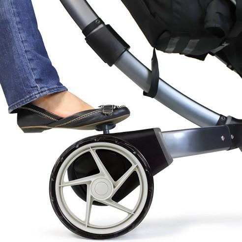 sistema frenado silla de pasear al bebe