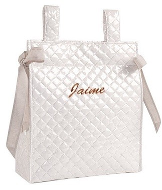 bolso personalizado con el nombre del bebe para regalar