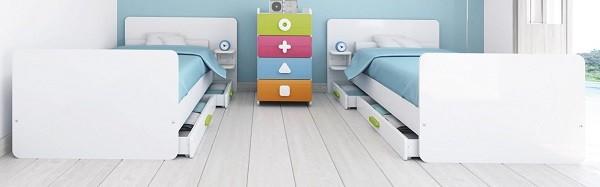 cunas convertibles para bebes en cama gemelares de alondra