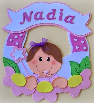 letrero original y personalizado para habitacion del bebe