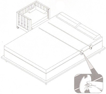 como acoplar cuna colecho a cama con canape