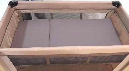 cuna de viaje con doble altura