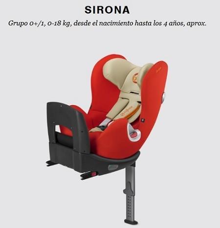 silla contramarcha cybex sirona