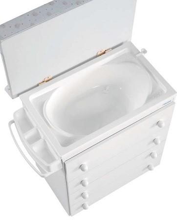 comoda vestidor con cubeta bañera integrada