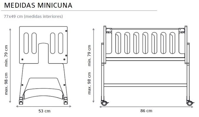 minicuna Nicola medidas estructura