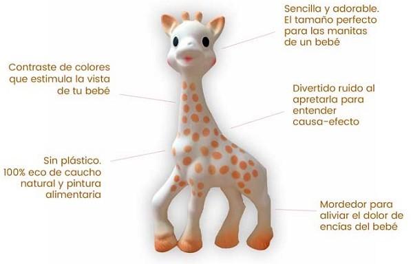 jirafa sophie mejor mordedor para bebes