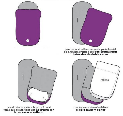 saco silla con relleno desenfundable