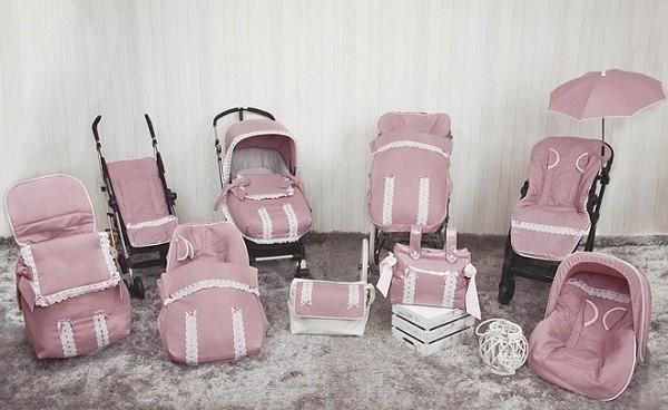 complementos a juego con saco carro pasear bebe