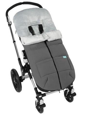 tercera cremallera al medio saco carro bebe