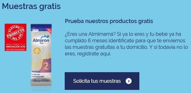 almiclub muestra leche gratis para bebe