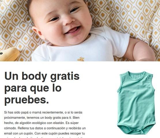 body gratis para bebe zeeman