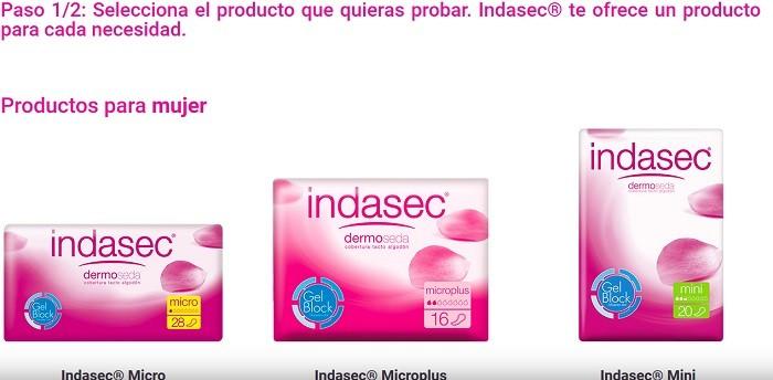 indasec muestras gratis para embarazadas
