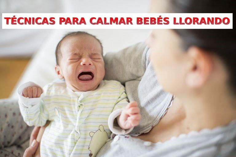 como tranquilizar un bebé llorando en casa