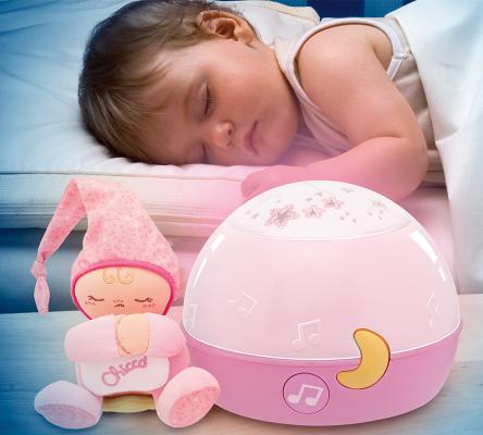 proyector de luces y sonidos para calmar un bebé