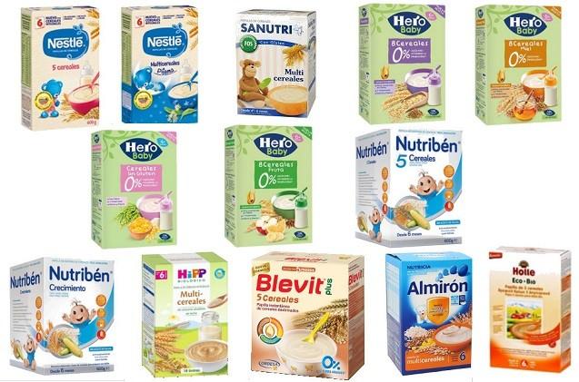 cereales leche crecimiento para bebes