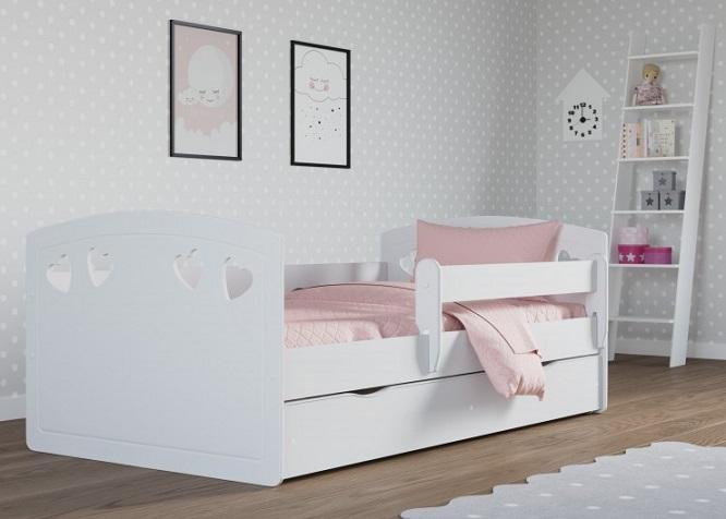 cama infantil bella con cabecero de corazones